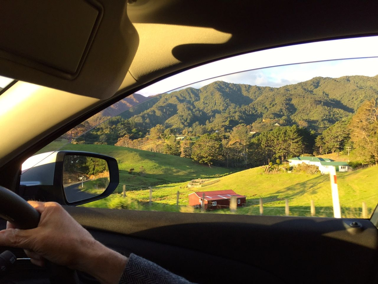 Sights on the route-of-hairpin-turns that took us through farmland to the beaches.