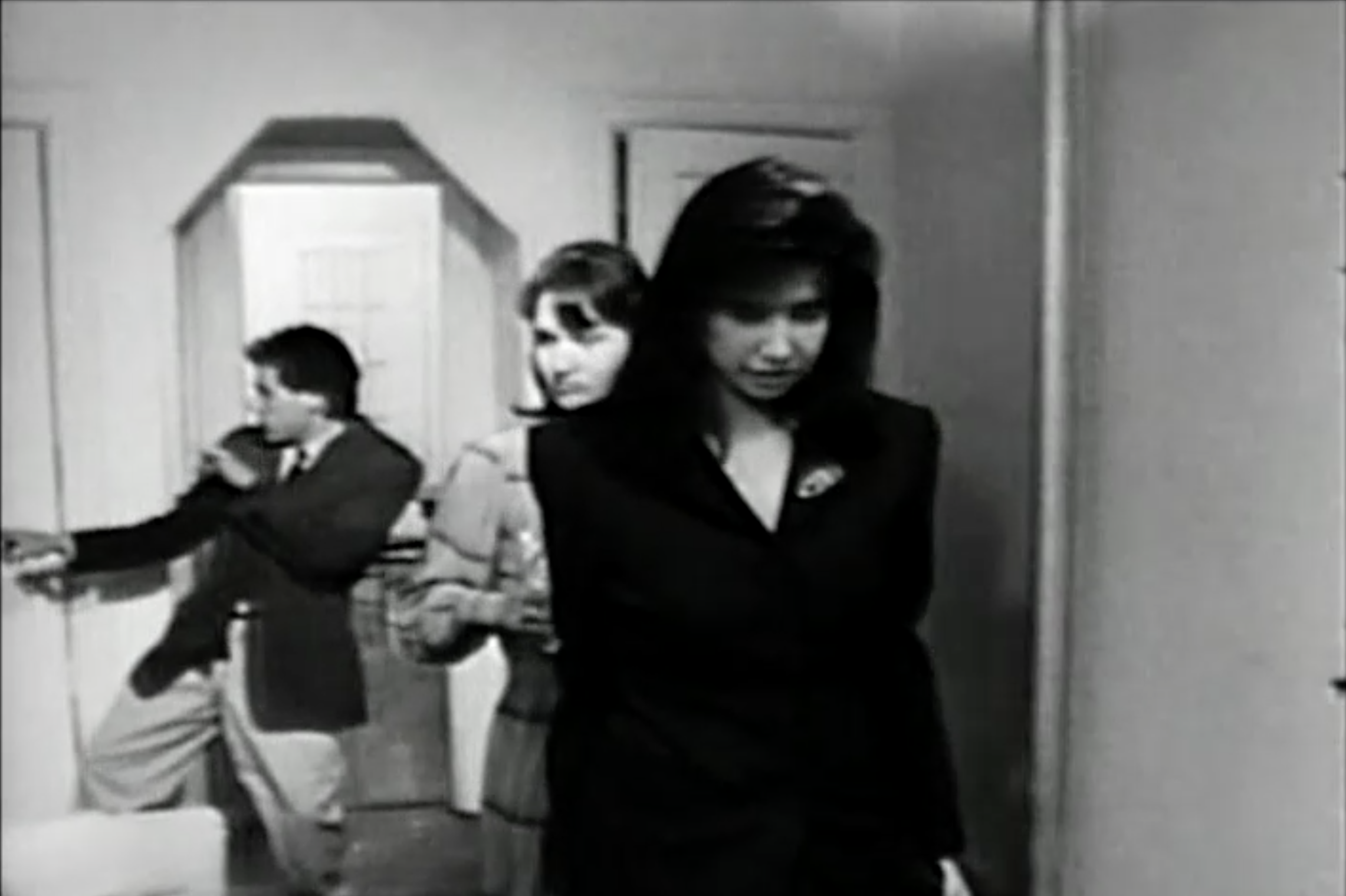 Josh Pais (dancing with himself in the mirror), Mary Carol Johnson and Lea Floden