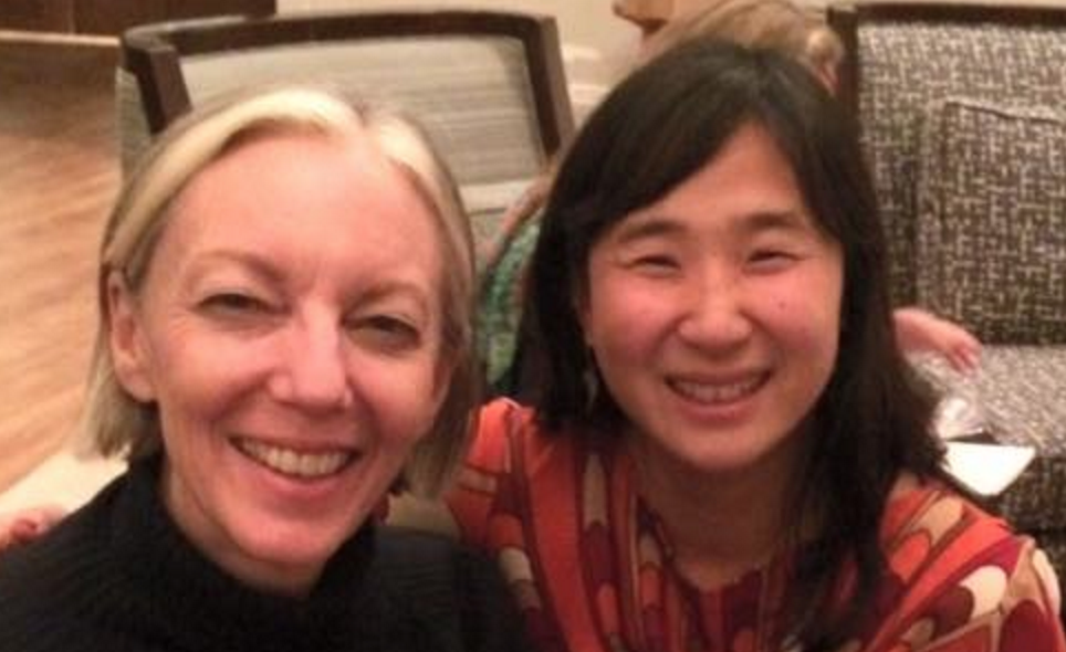 """With Patty Chang Anker author of """"Some Nerve"""" who did a workshop """"What Are You Afraid Of?"""""""