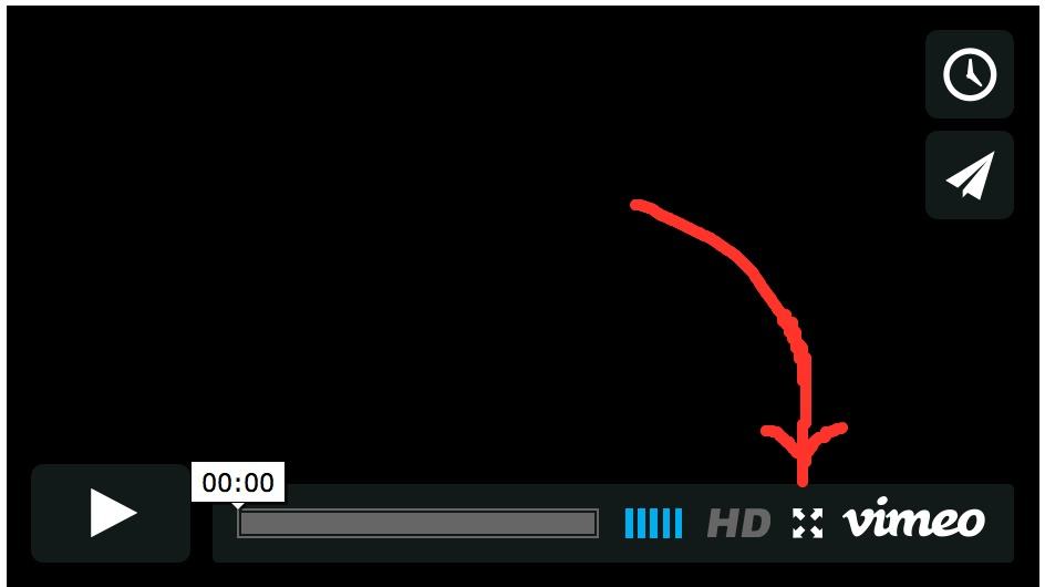 "PS Click on the white arrow in the middle of the 'comedic brilliance' video screen and then, for a bigger video player, click on the white 'flower' just under the words: ""Meet Louise""."