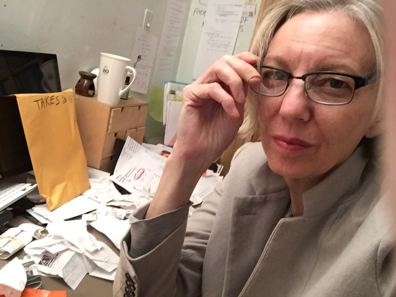buried in receipts at tax time