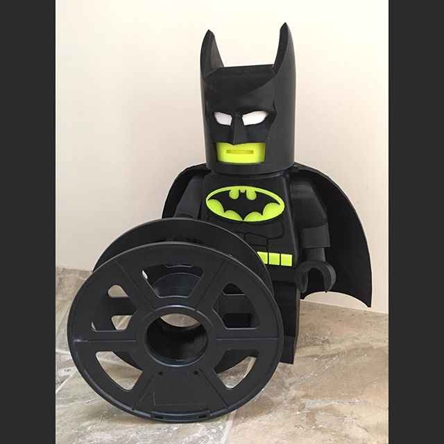 Supersized Lego Batman (about 37cm tall) #lego #batman #3dprinting #legobatman #3dprinted