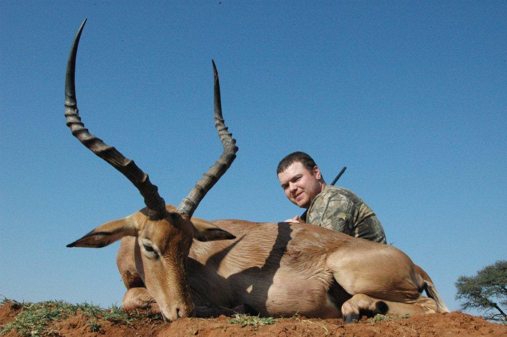 Ryan Kaullen with magnificent impala