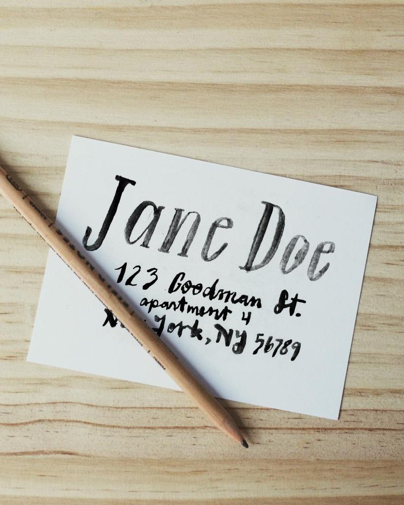 custom address stamp design