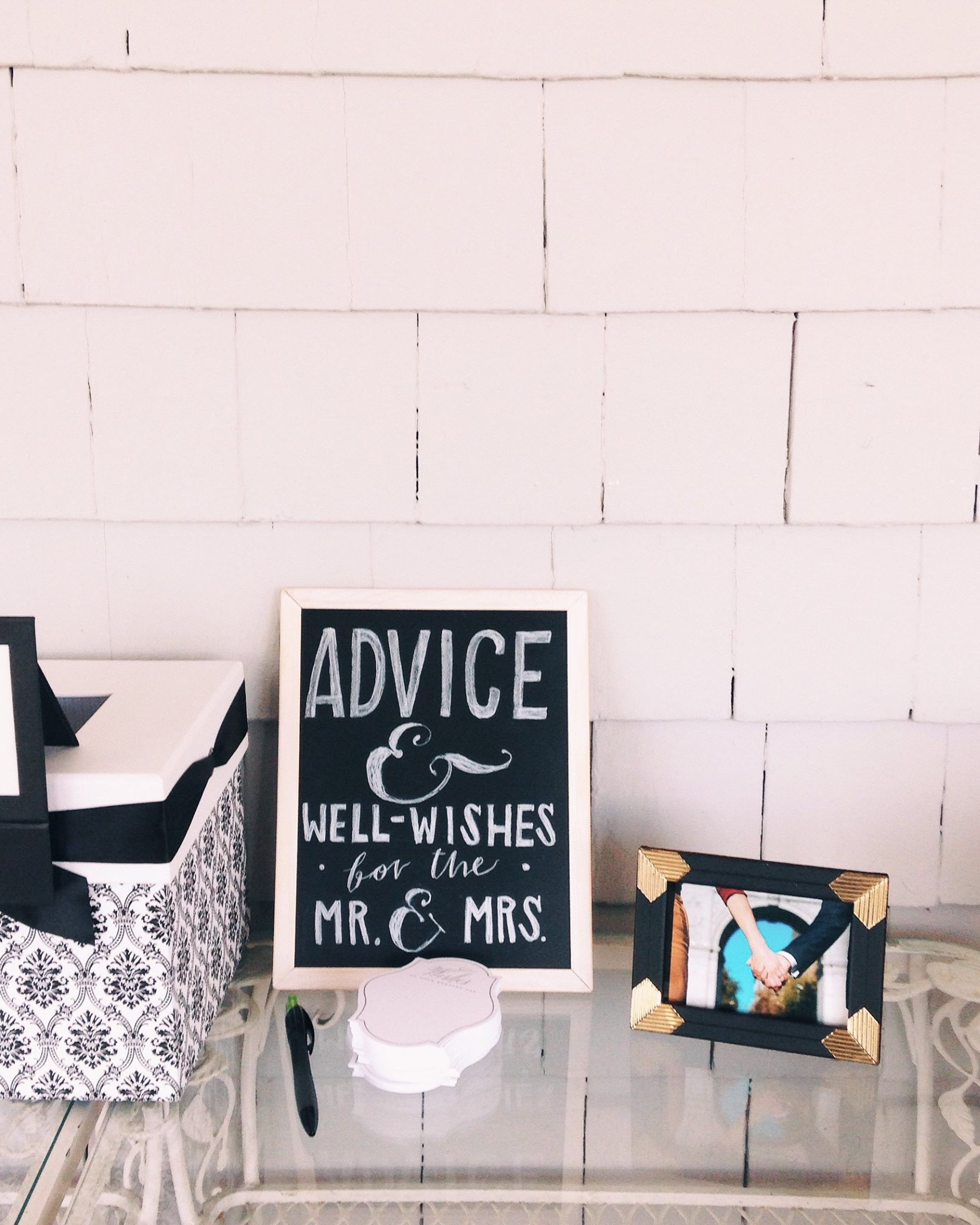 sam & brian wedding boards