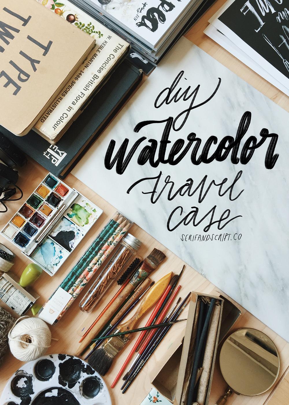 DIY watercolor travel case