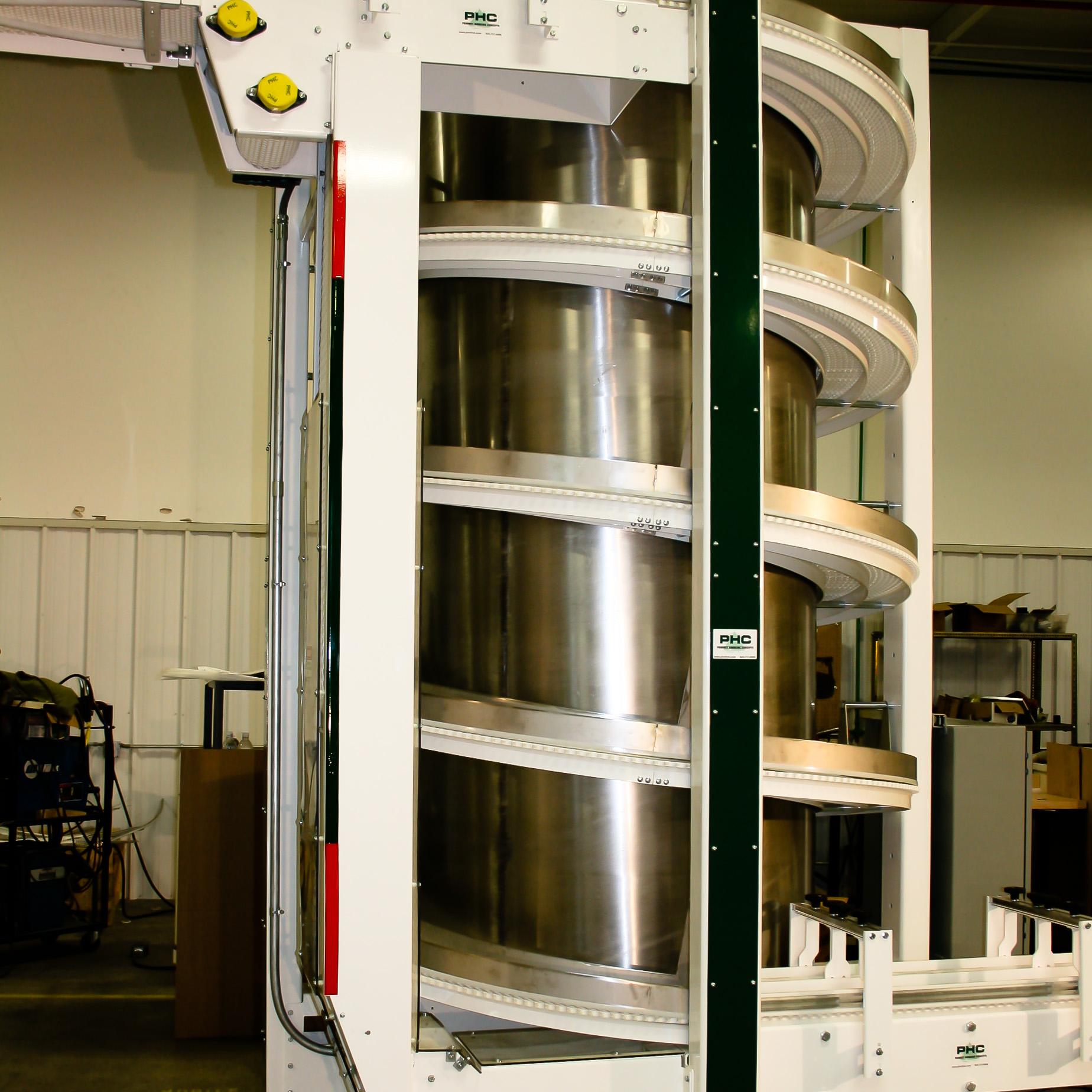 Modular Belt Spiral Vertical Conveyor