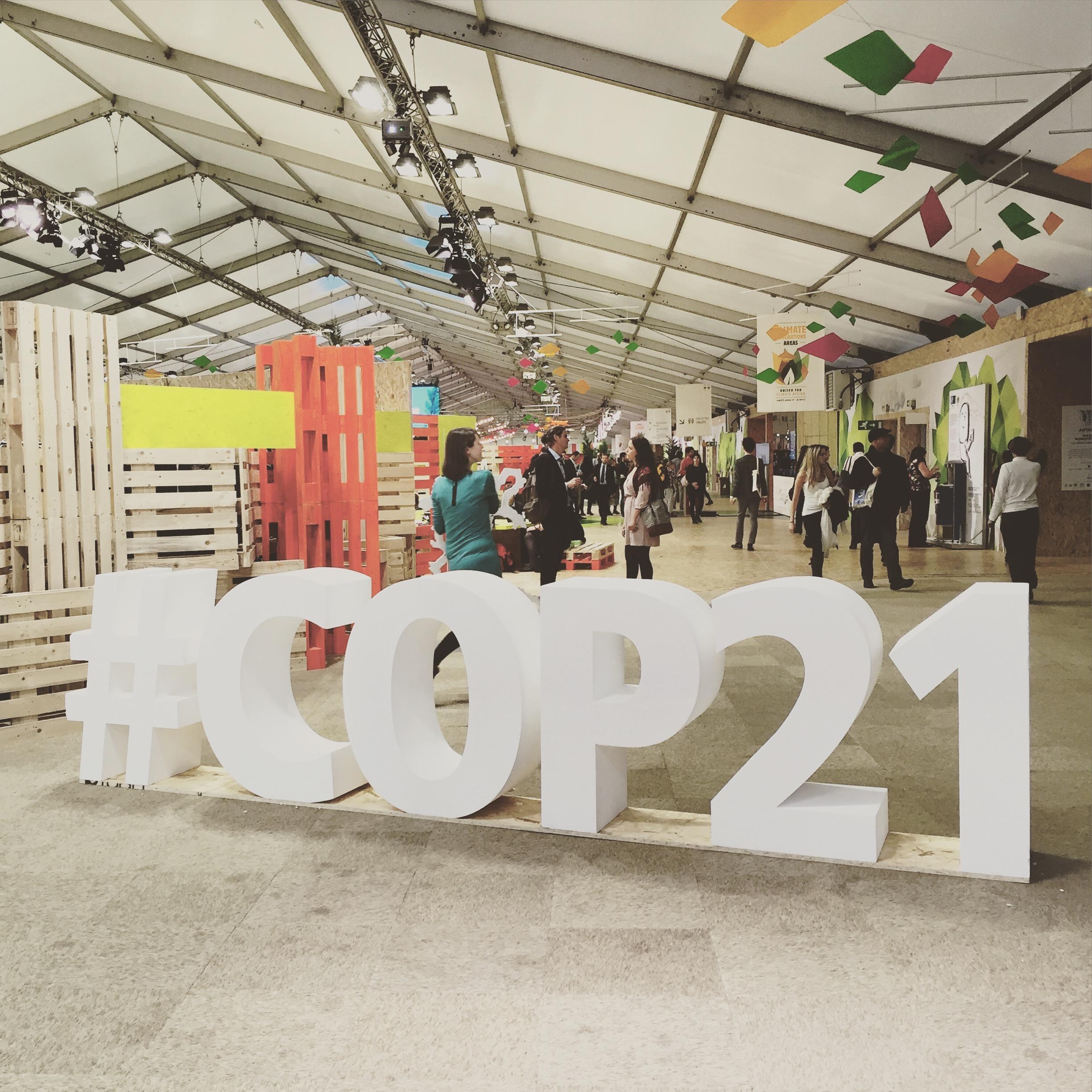 Sur le stand de l'USNESCO à la COP 21.