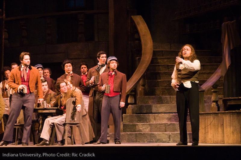 IU Opera Theater, Les contes d'Hoffmann   photo credit: Ric Cradick  with: Nathan Brown, IU Opera Chorus