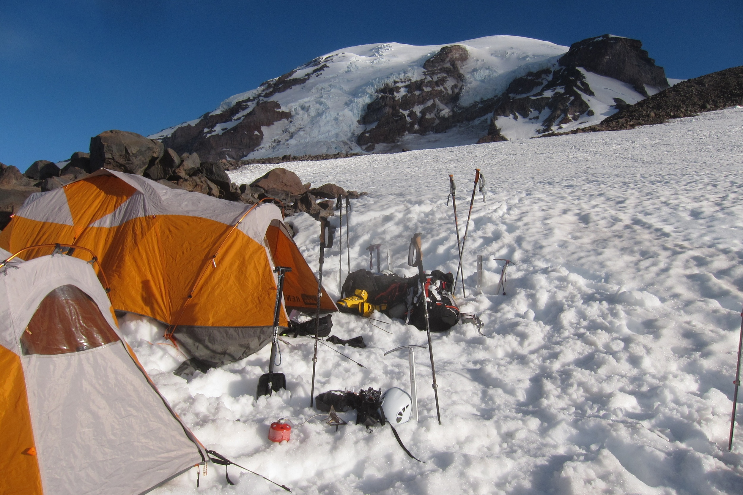 The First night on Muir snowfield
