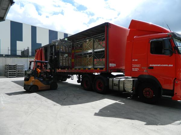A truckload of naplans setting out for the bush, photo QCCA