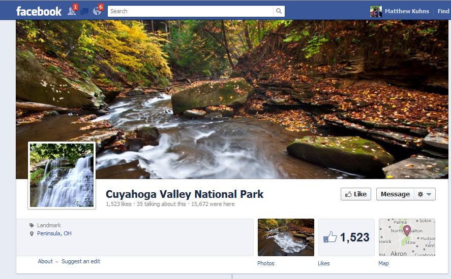 CVNP Facebook Fan Page Banner