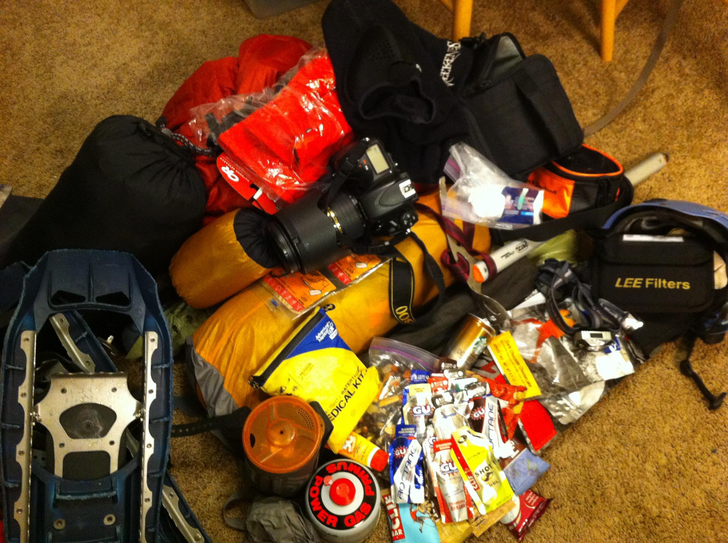 My gear, around 45 lbs.