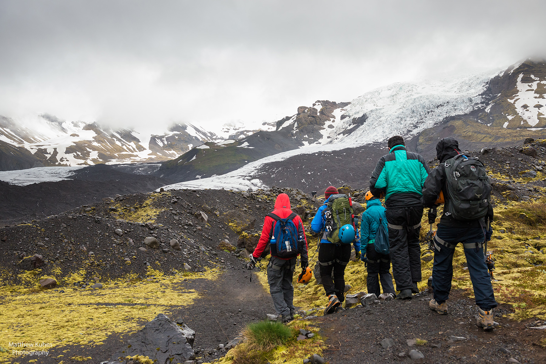 Click to Enlarge: The beautiful hike to the glacier.