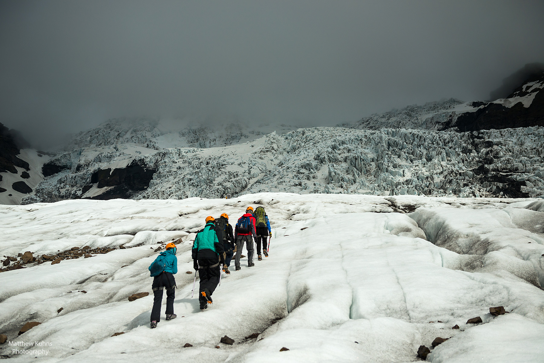 Click to Enlarge: Getting closer to the icefall.