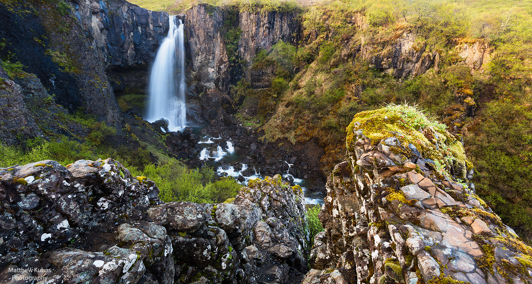 Click to Enlarge: The waterfall Hundafoss in Skaftafell National Park.