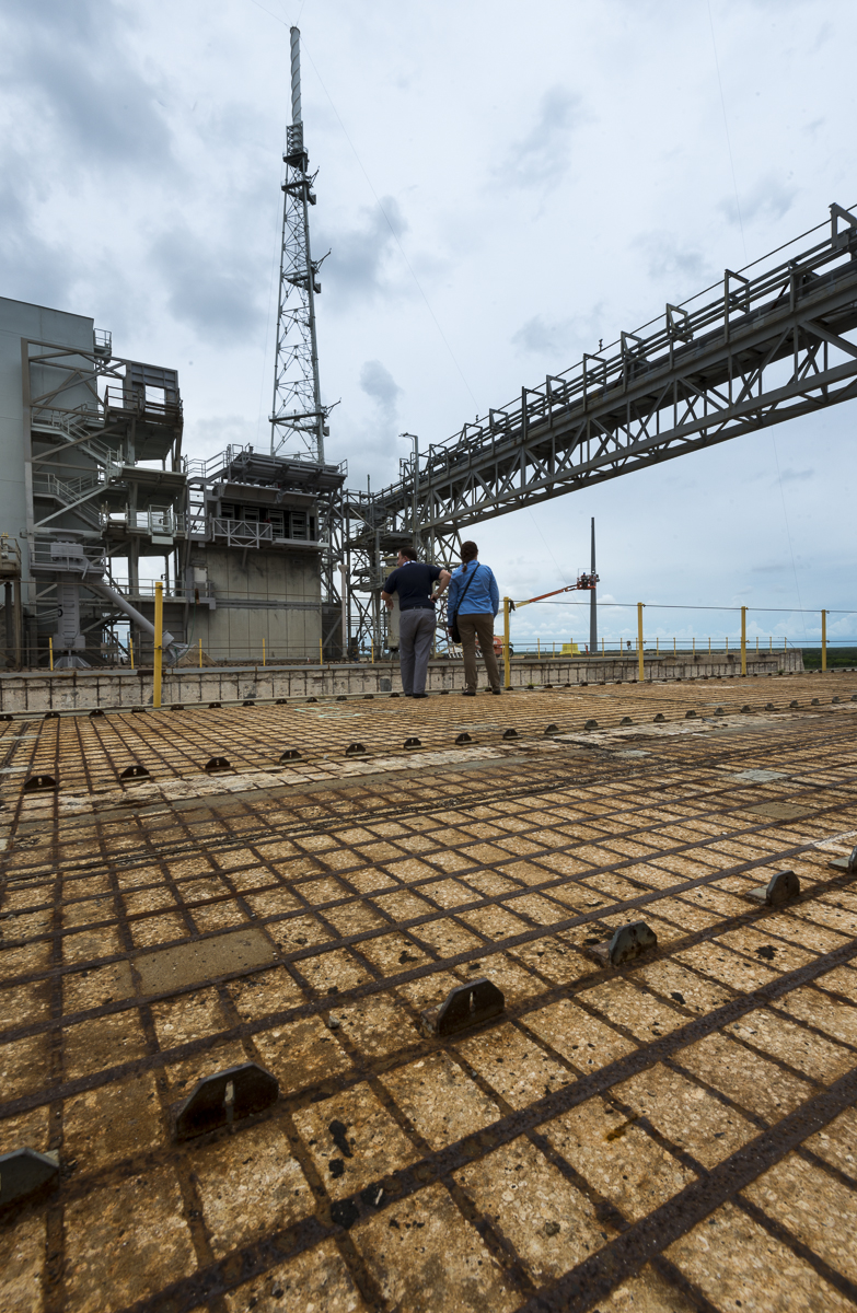 Next to the flame trench - Pad 39B