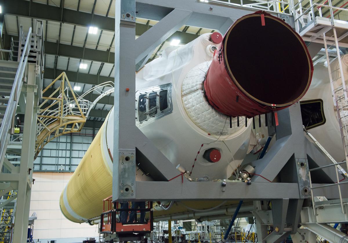 Delta IV Heavy right engine.