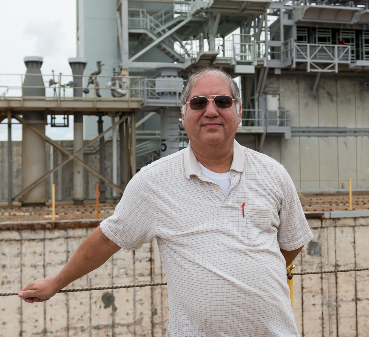 José  was our guide on the launch pad, he is in charge of retrofitting it back to the clean pad functionality.