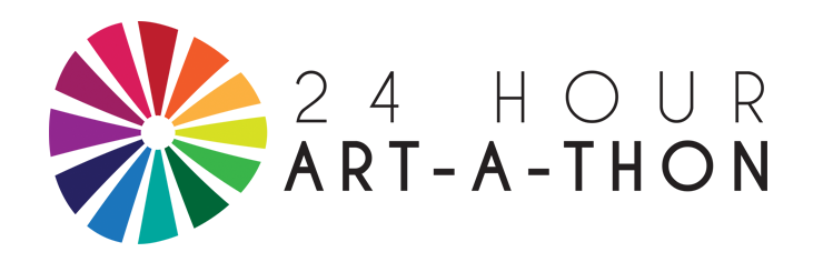 Client:  Rebecca Henderson/Artbeat Studio  This logo was created for the 24-hour art-a-thon, a fundraising initiative to increase awareness for mental illness and raise money for Artbeat Studio's endowment fund.