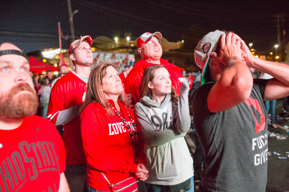 Ohio State fans react to a loss against Oklahoma University. Columbus, OH. September 9, 2017