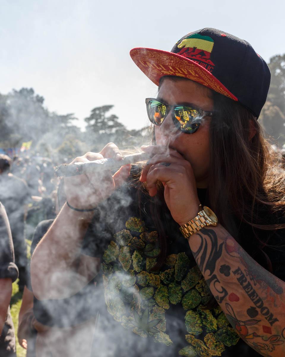 'Hippy Hill' in Golden Gate Park. April 20, 2017