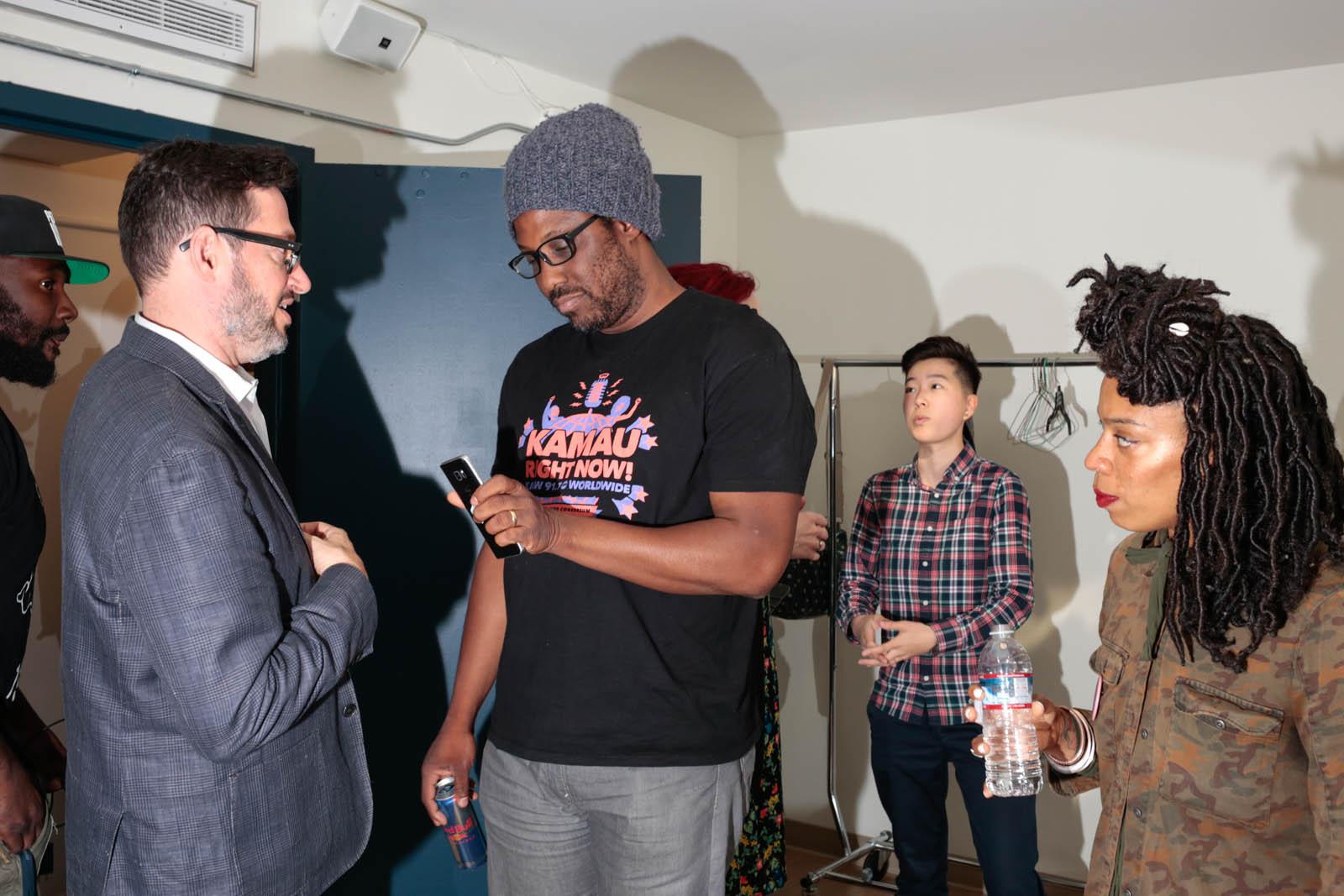 "W. Kamau Bell backstage during taping of ""Kamau Right Now!""  shot for KALW"