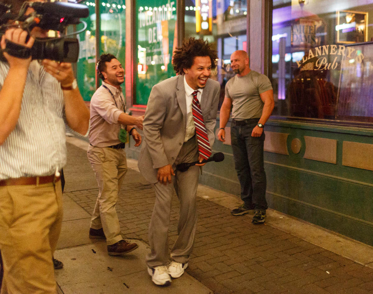 Eric Andre outside the RNC. Cleveland, OH June 2016