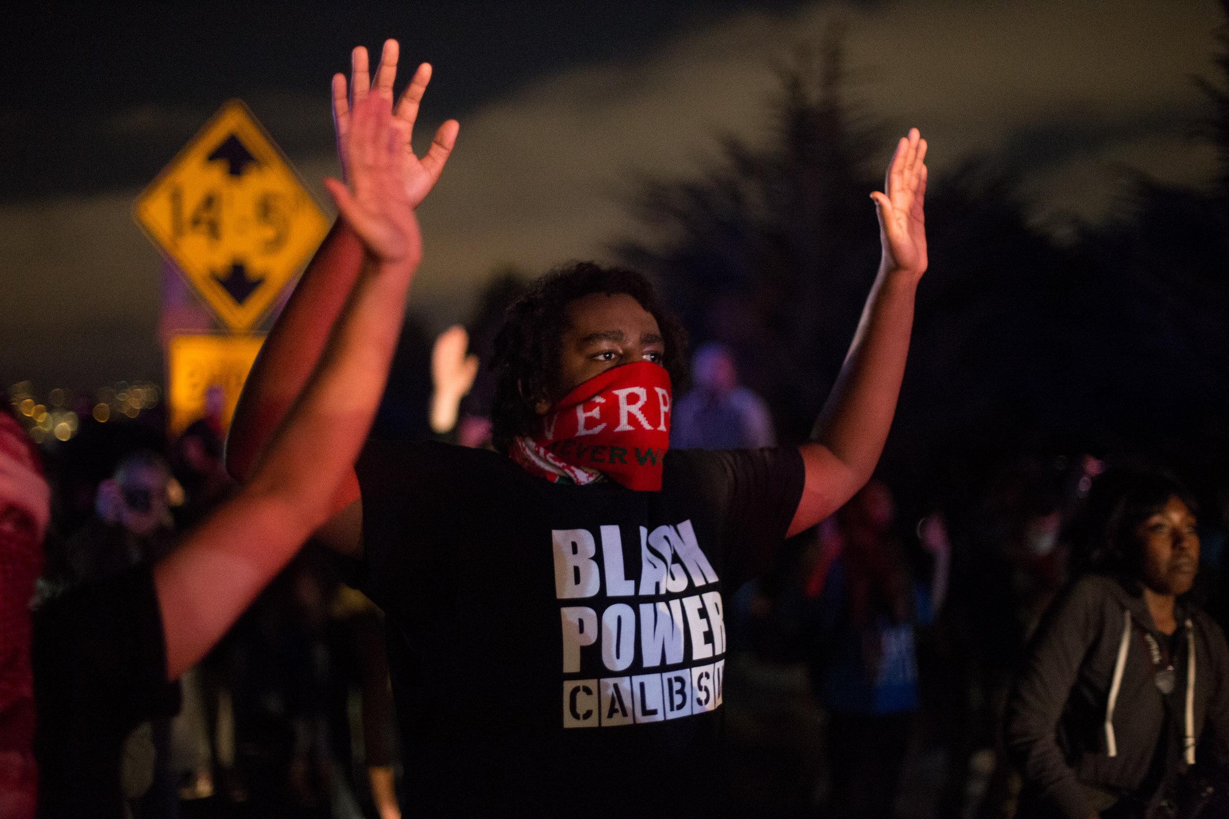 Black Lives Matter protest on I-580. Berkeley, CA December 2014