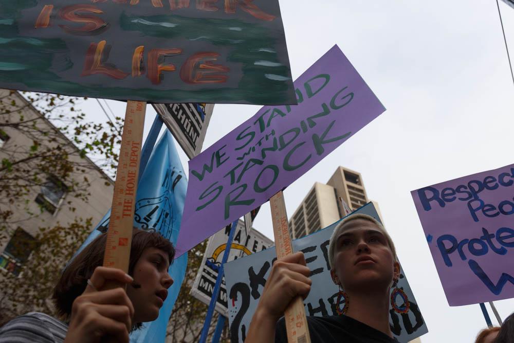 Protest against the Dakota Access Pipeline. San Francisco, CA. Nov 15th 2016
