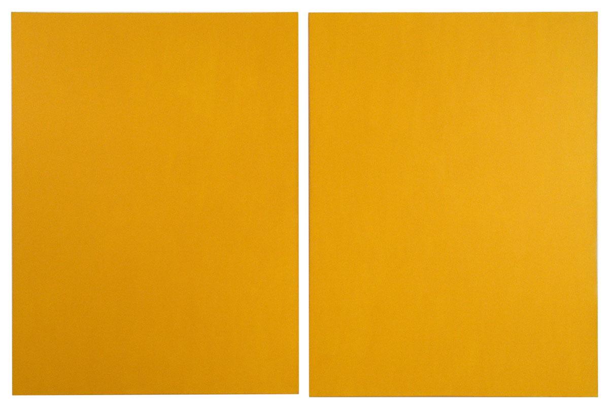 Deep Yellow Diptych
