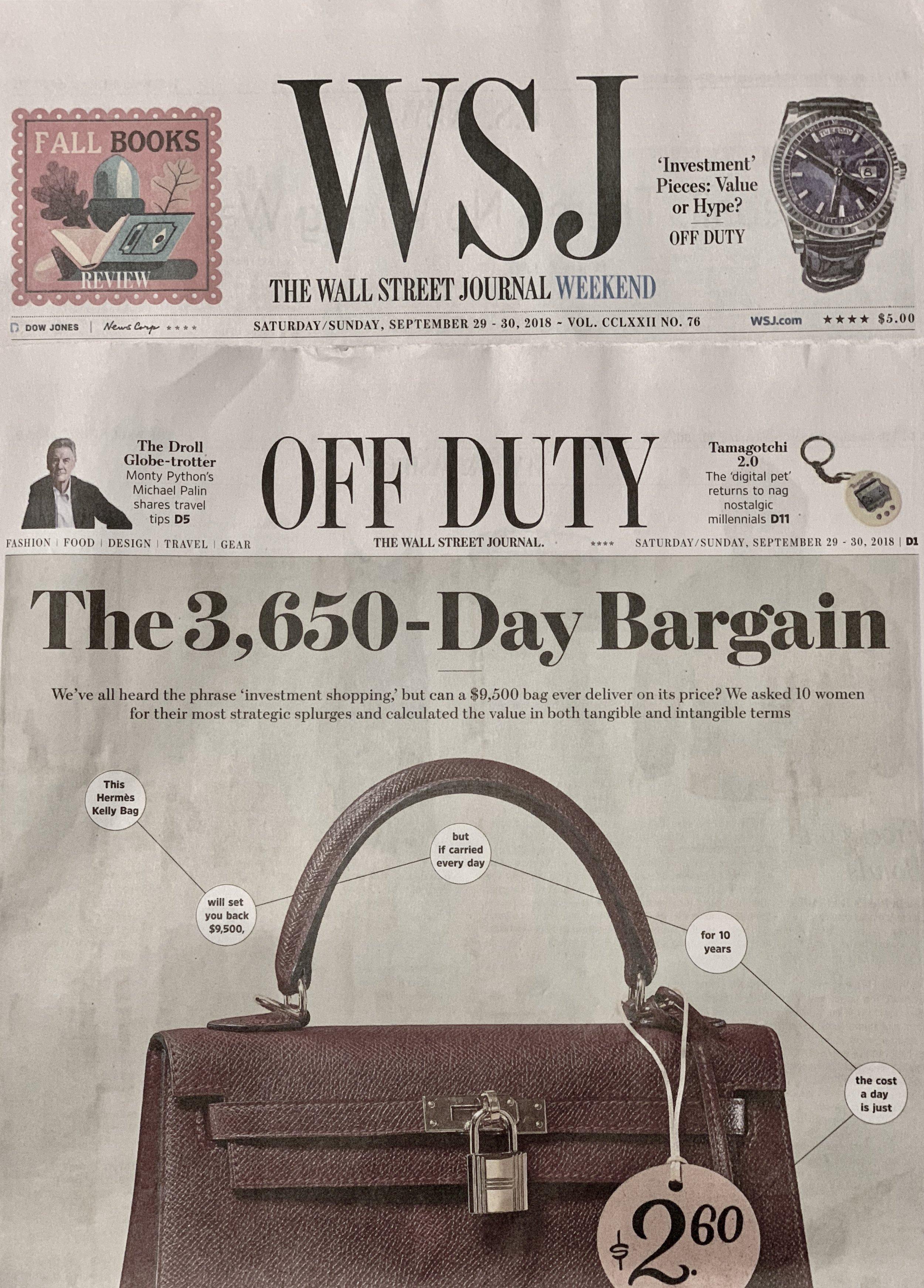 Wall Street Journal October 2018
