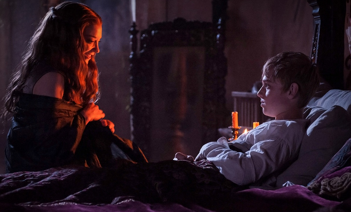 Margaery Tyrell sneaks into the room of the soon to be king Tommen  image - HBO