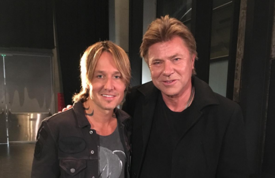 Richard Wilkins (right) with Keith Urban  image source - Twitter