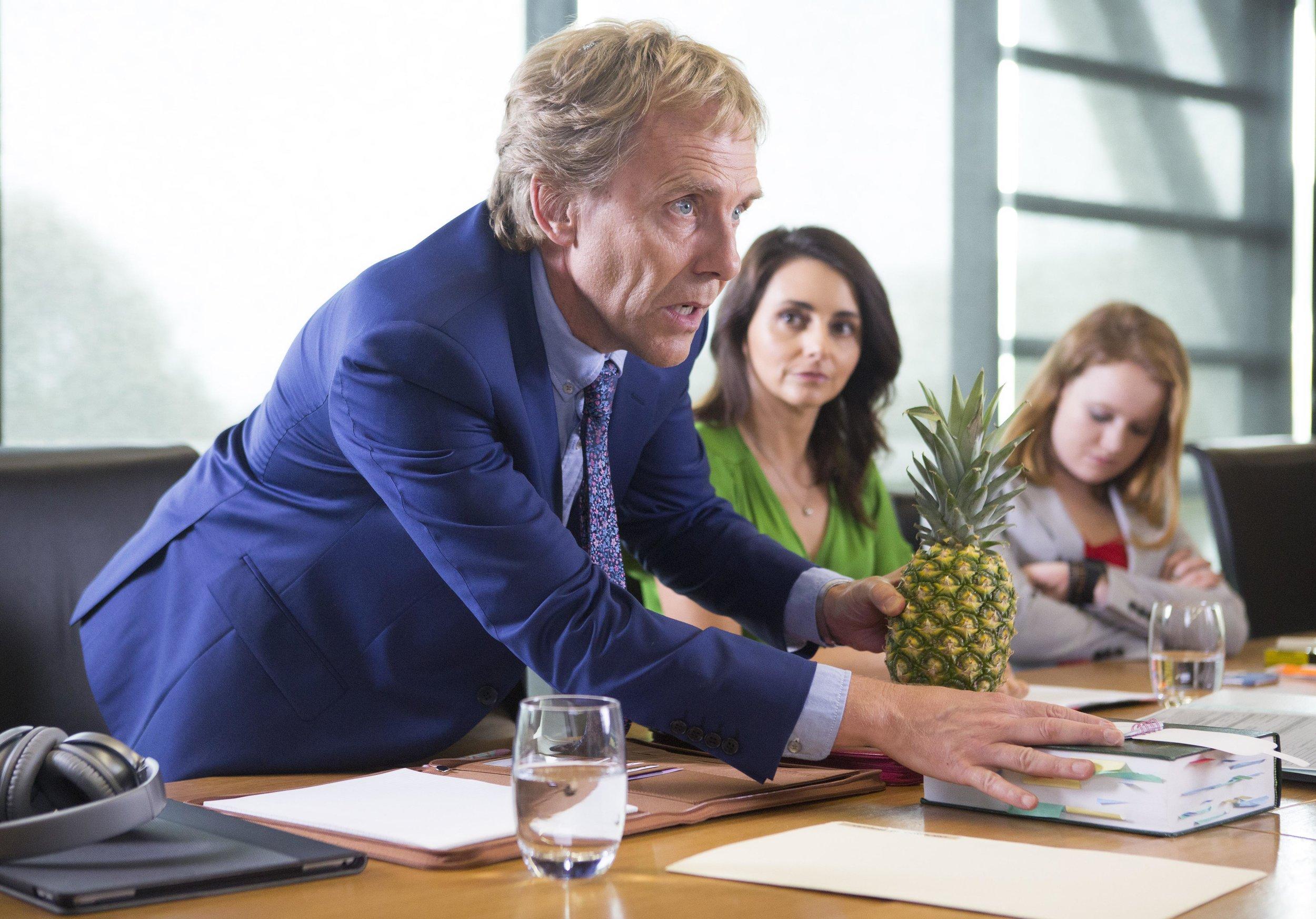 Wayne Hope, Pia Miranda, Liv Hewson star in BACK IN VERY SMALL BUSINESS  Image - ABC