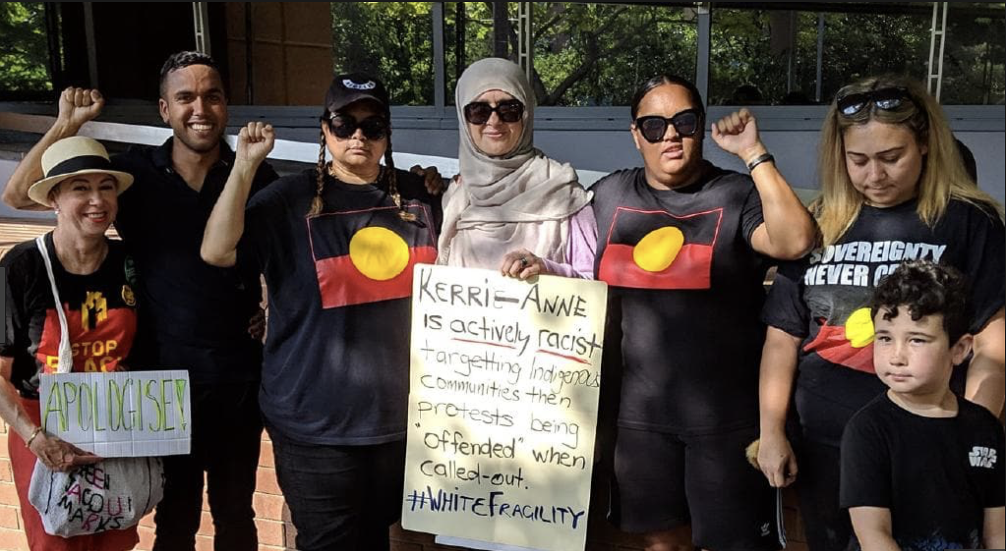 Protesters outside Channel 10 this week   PHOTO: News Corp