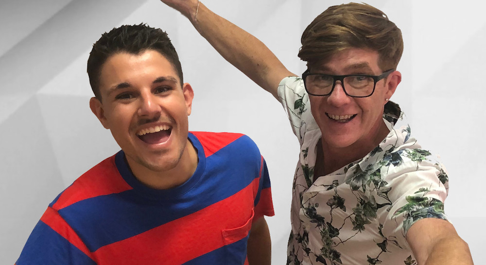 Mikey D & former GOGGLEBOX AUSTRALIA star Tom Walsh  PHOTO: Radio Today