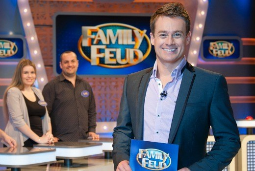 Grant Denyer as host of  Family Feud   PHOTO: 10
