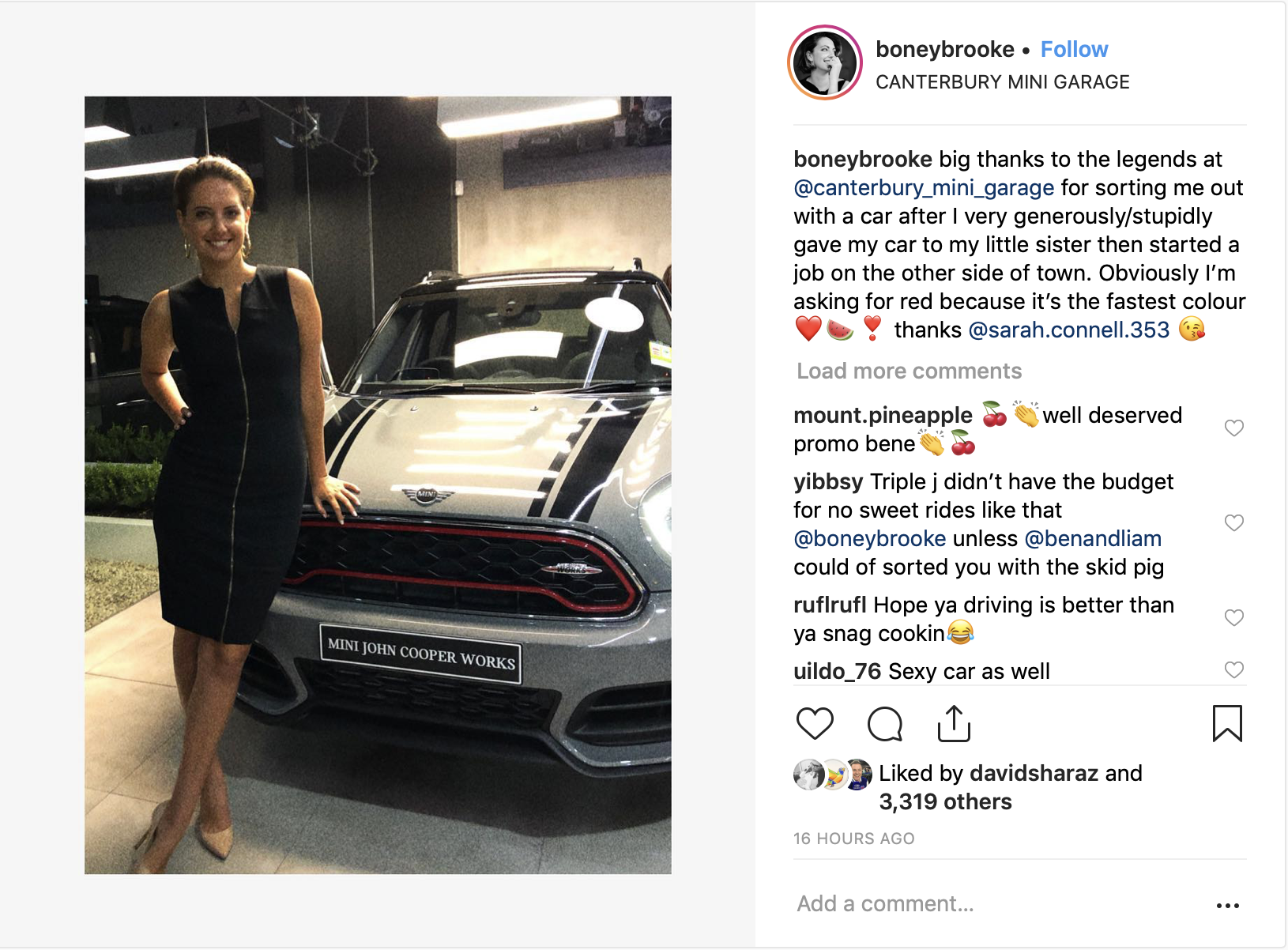 Brooke Boney Car