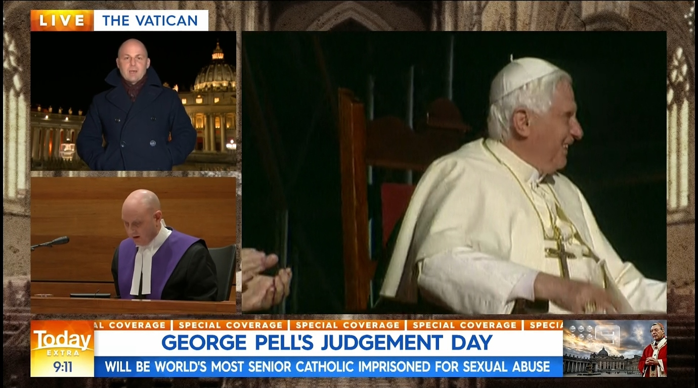 Michael Best reporting from the Vatican   PHOTO: Screen capture from TV.Cynic at MediaSpy