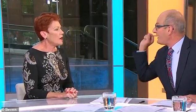 David Koch & Pauline Hanson on Sunrise this morning   PHOTO: The Daily Mail