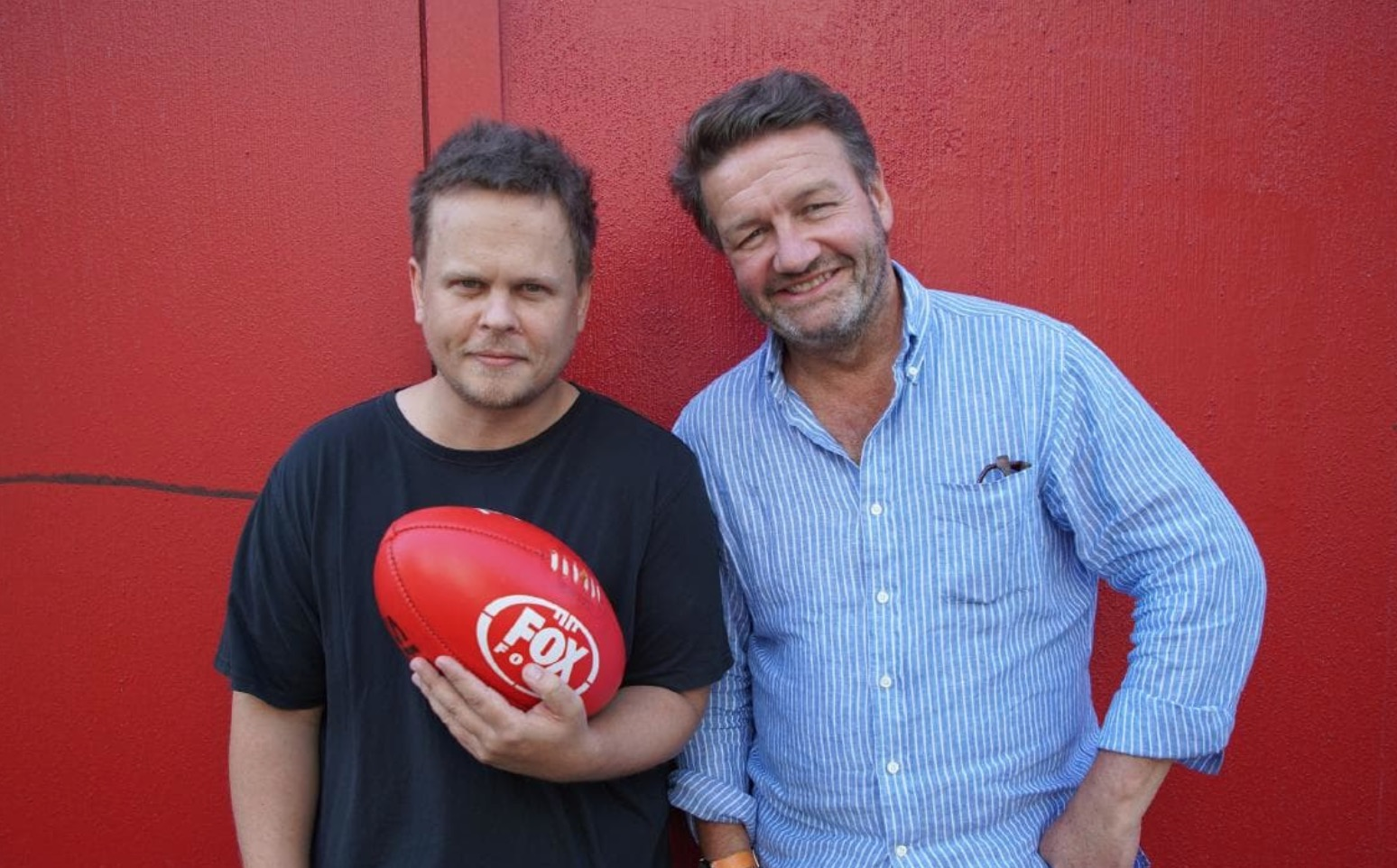 Dean Thomas and Lawrence Mooney from 'Up The Guts'  images - Fox Footy