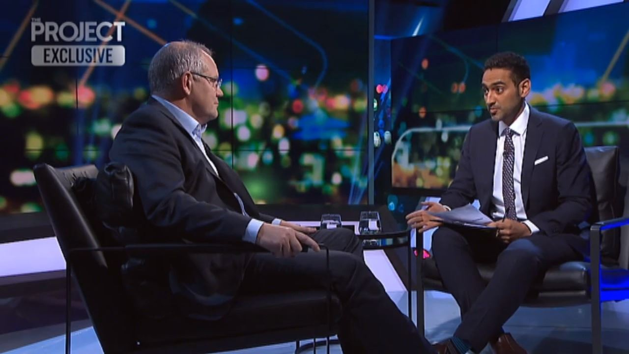 Prime Minister Scott Morrison with Waleed Aly