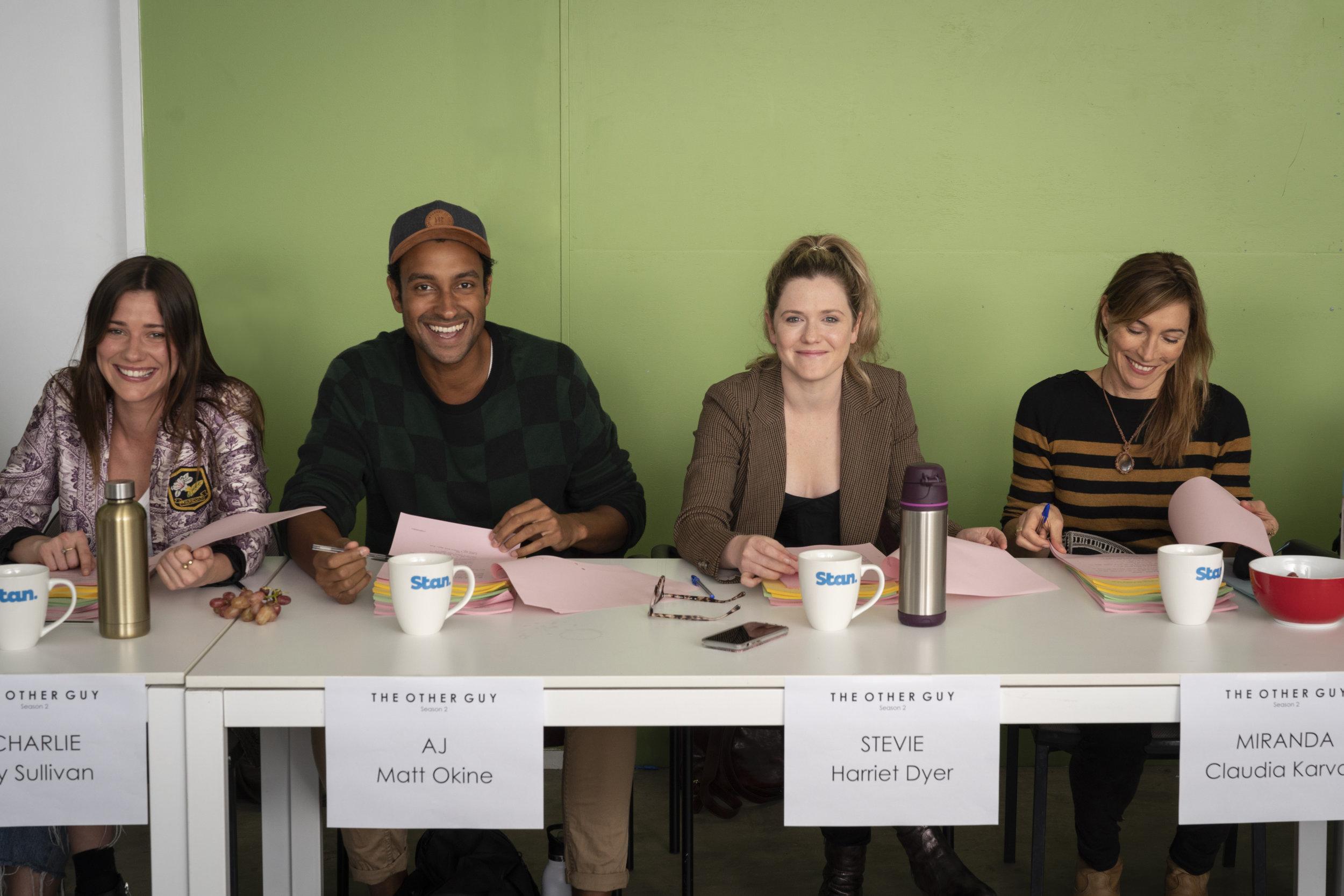 Valene Kane, Matt Okine, Harriet Dyer and Claudia Karvan  image - STAN