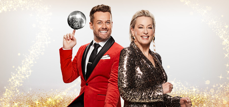 Grant Denyer and Amanda Keller host DANCING WITH THE STARS, which has been renewed by Channel 10 for another season   PHOTO: 10
