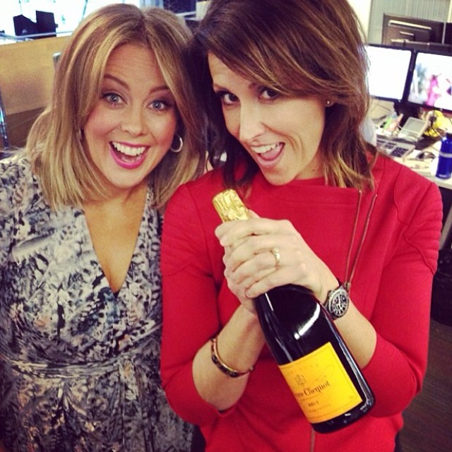 The winning female combo of SAM ARMYTAGE and NATALIE BARR