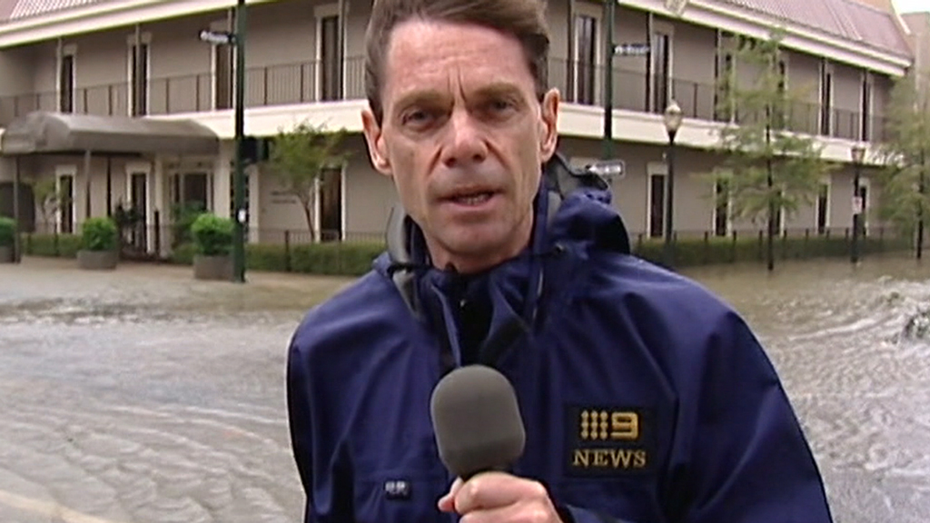 Robert Penfold reporting on location   PHOTO: Nine