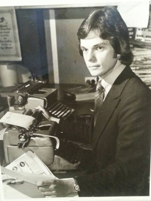 Robert Penfold as a reporter in the '70s   PHOTO: The Campbelltown-MacArthur Advertiser