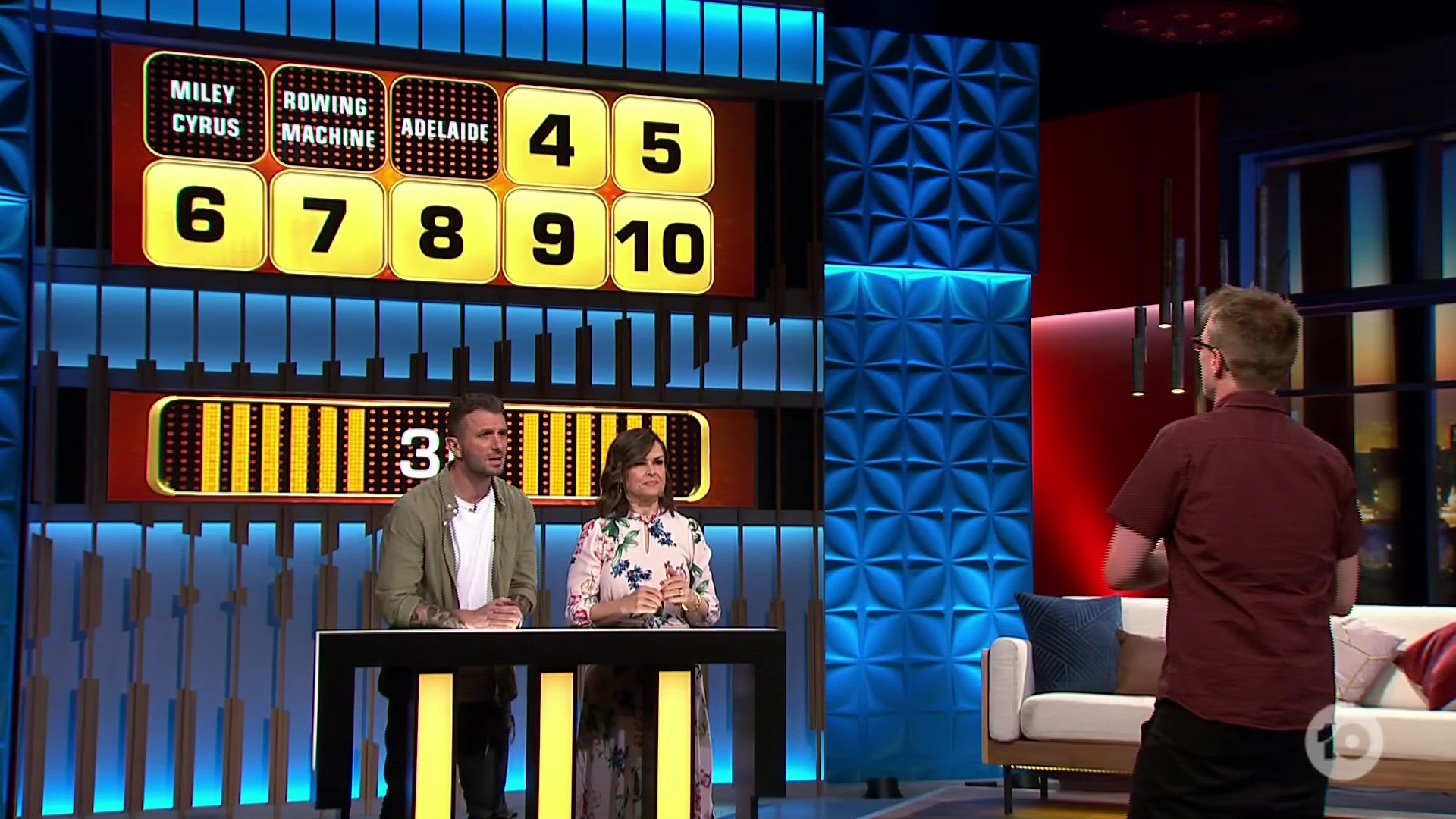 Andrew shocked host Grant Denyer with his precision clues.
