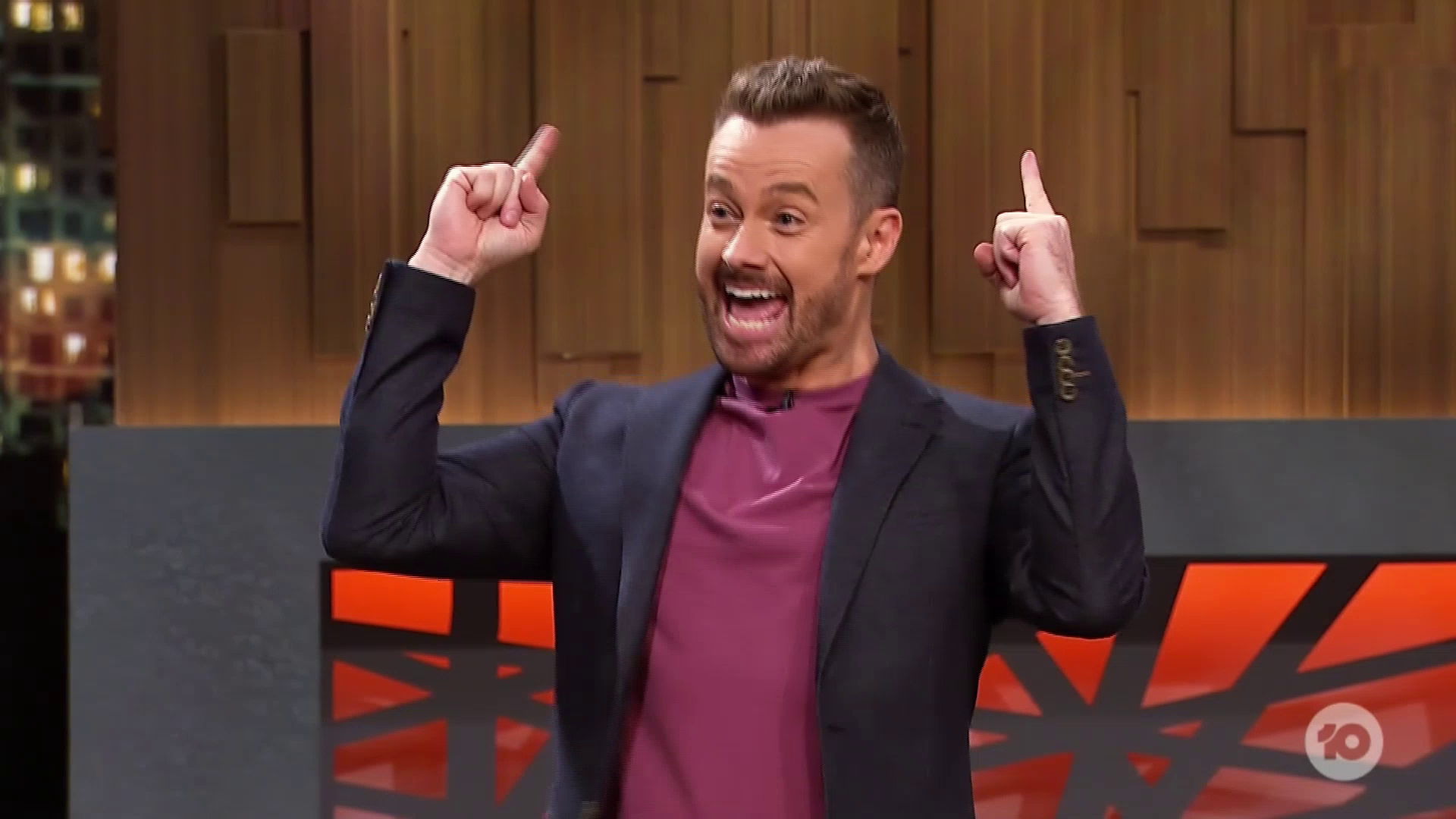 GRANT DENYER on the premiere episode of CELEBRITY NAME GAME which launched with a small 314,000 viewers
